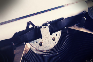 Closeup typewriter,vintage