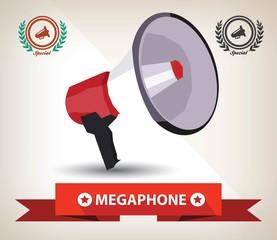 Megaphone symbol,Vector