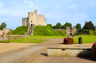 Exterior of Cardiff Castle – Wales, United Kingdom