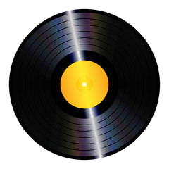 An illustration of an isolated lp vinyl record.