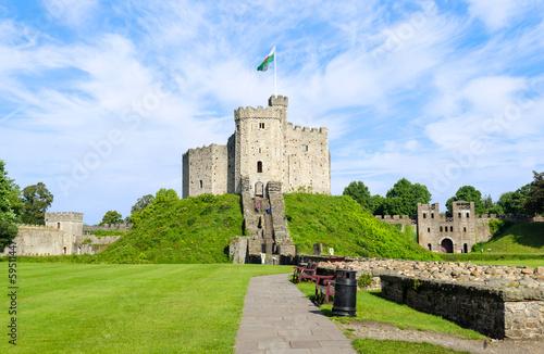 Foto op Plexiglas Kasteel Exterior of Cardiff Castle – Wales, United Kingdom