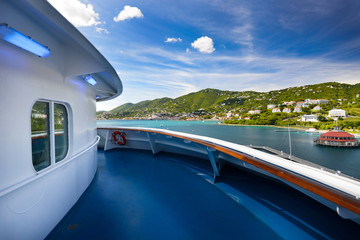 Beautiful cruise ship view in St. Thomas