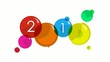 2014 Happy New Year colored balloons greetings animation