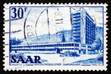 Postage stamp Saar, Germany 1953 Saar University Library