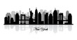 vector new york skyline silhouette - 59512856