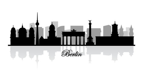 vector berlin skyline silhouette
