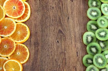 arance rosse e kiwi