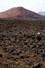 volcanic stone in los volcanes lanzarote   rock  sky  hill  summ