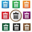 Bin symbol,Color buttons,vector