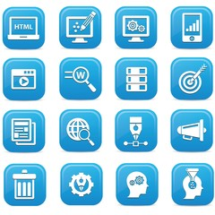 Advertise,Website icons,blue version,vector