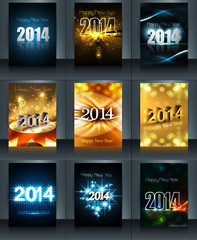 Beautiful new year 2014 template brochure collection presentatio