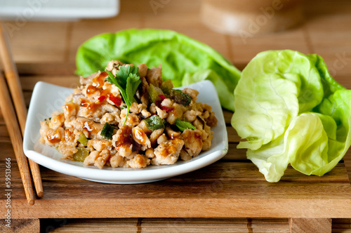Chicken Lettuce Wraps Poster