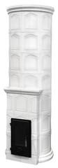 Fireplace of white ceramic