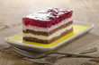 fruit cake with red currants