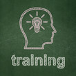 Education concept: Head With Lightbulb and Training on