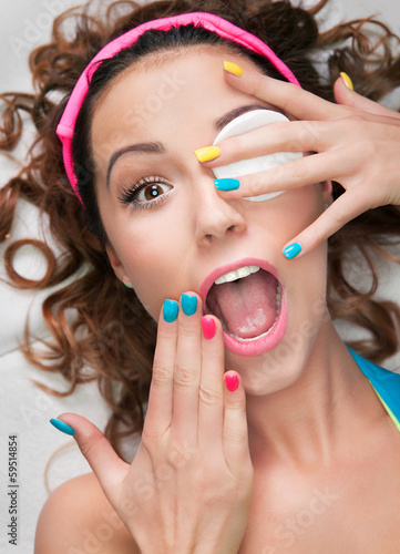 Make up fail or cosmetic allergy concept
