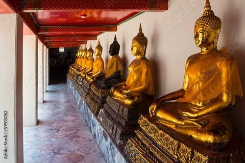 Golden Buddhas in Wat Pho Temple
