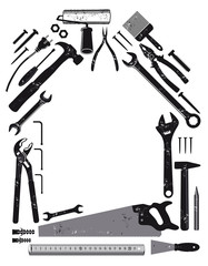 Werkzeug in Hausform