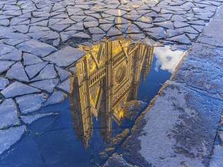 Orvieto Cathedral reflection, Umbria, Italy