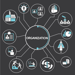 organization network, mind mapping, info graphics