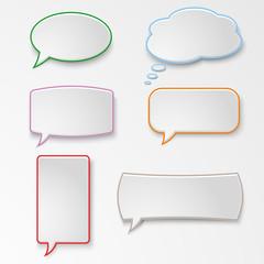 Colorful set speech bubbles