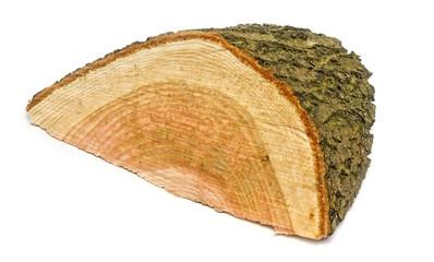 Abgesägtes Holzkeil