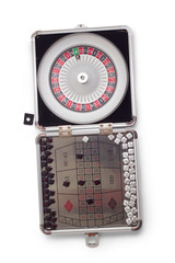 American Roulette table game sealed isolated on white background