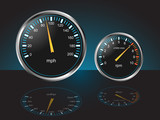 Auto Dashboard Gauges with Reflections