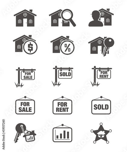 real estate silhouette icon