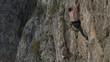 rock climber in Turzi Gorge, Transylvania