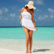 Fashion woman on the beach