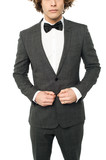 Cropped image of a man in tuxedo