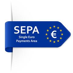 SEPA - Langer EU Sticker Pfeil mit Schatten