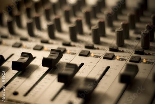 Leinwanddruck Bild Recording Studio Mixer
