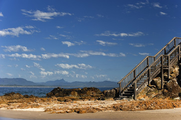 Treppe am Clarks beach in Byron bay, Australien