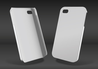 iphone plastic case mockup for design and print