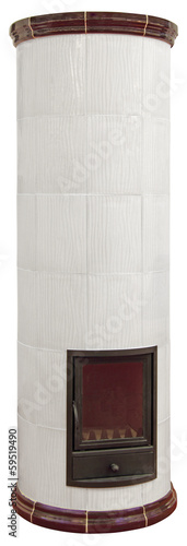 White ceramic Fireplace