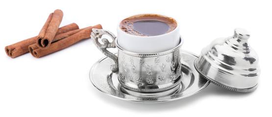 Turkish Coffee with Cinnamon Sticks