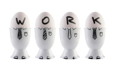 Eggs, business team concept.