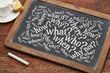 brainstorming questions on blackboard