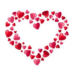 Valentine's day hearts. Vector illustration.