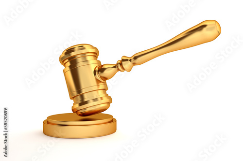 gold judge's gavel