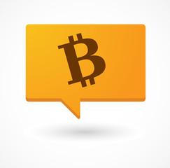 Comic balloon with a bitcoin icon