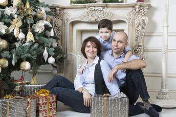 Christmas family celebration