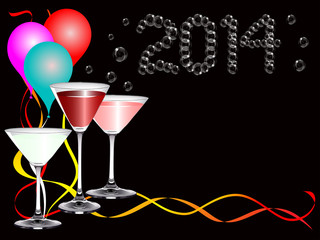 A 2014 new year party image