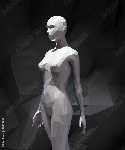 Stylized 3D woman