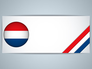 Netherlands Country Set of Banners