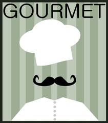 gourmet graphic design with chef