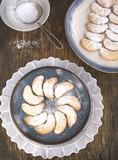 Crescents vanilla and almond cookies