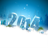 Fototapety Happy New Year greeting card